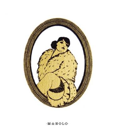 FRANCESCA-walnut brooch