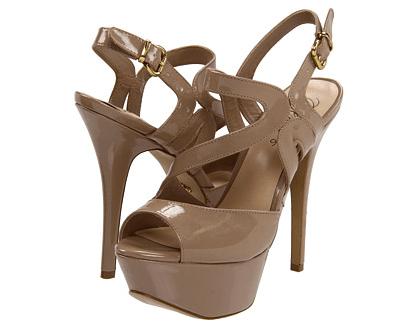 Fergie Beatnik Nude Platform Sandal