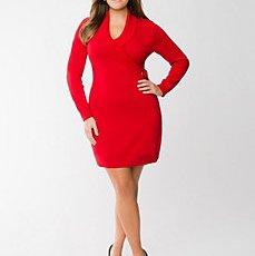 Figure 2 – Lane Bryant - Plus Size Faux Wrap Sweater Dress - $84.95