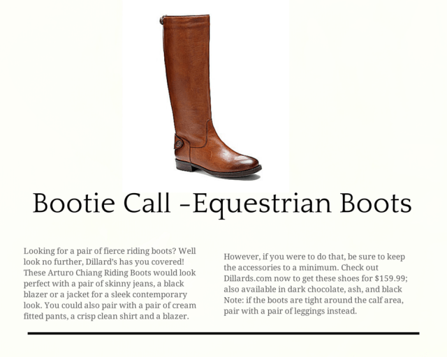 Fall Bootie Call