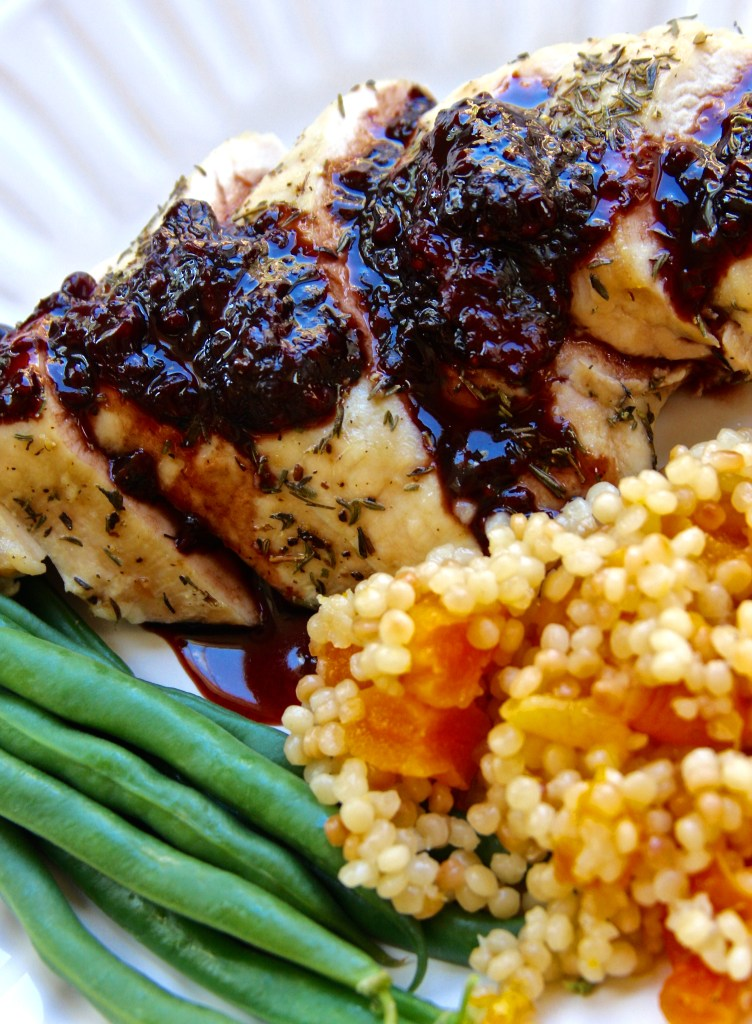 Blackberry Balsamic Chicken with Apricot Jeweled Couscous - The Fed Up ...