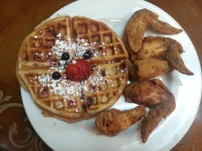 Chicken and Big Berry Mix Waffle