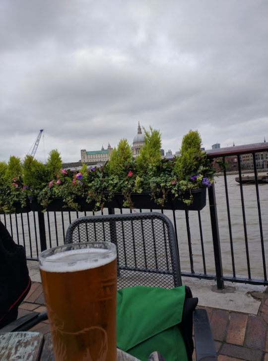 River Thames. As seen from Pub.