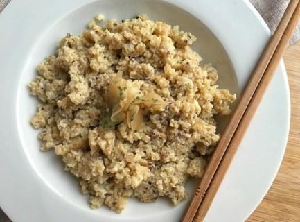 Quinoa à l'oeuf