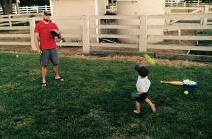 playing ball w daddy