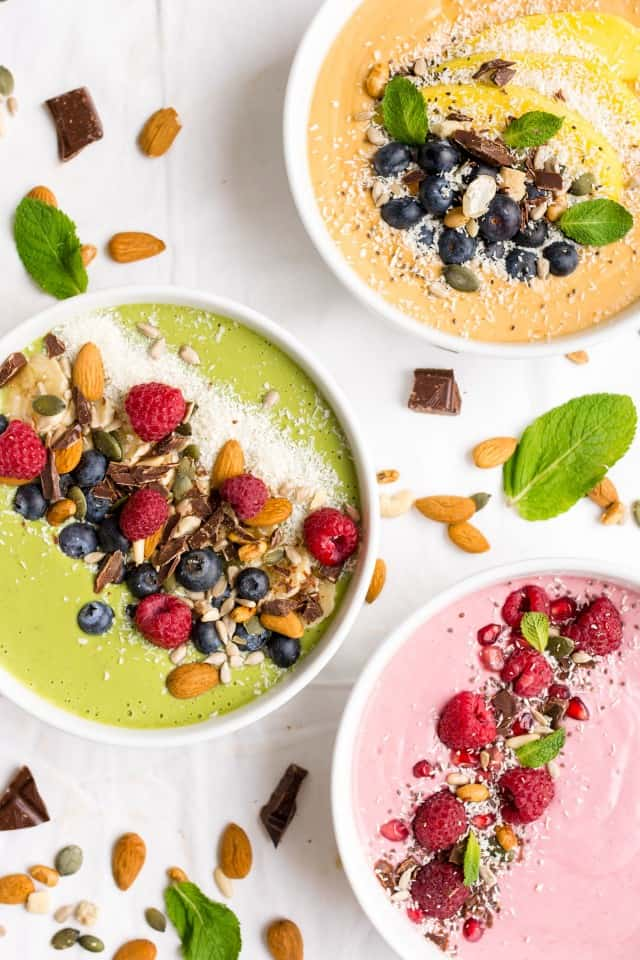 Healthy Breakfast Recipes. Smoothie Bowls.