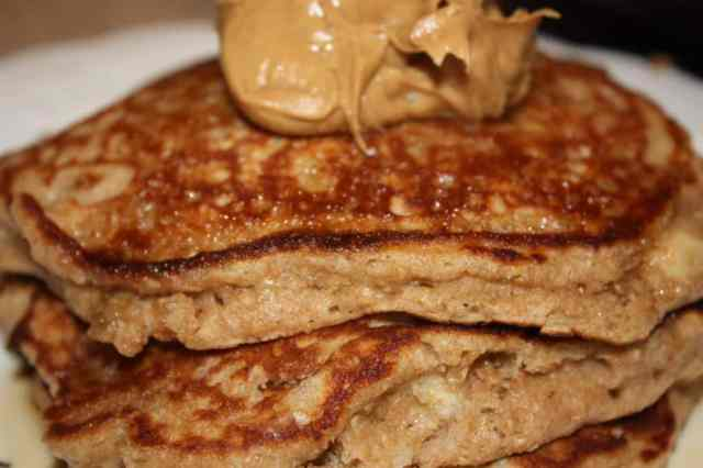 Oatmeal Banana Bread Pancakes - The Foodie Affair
