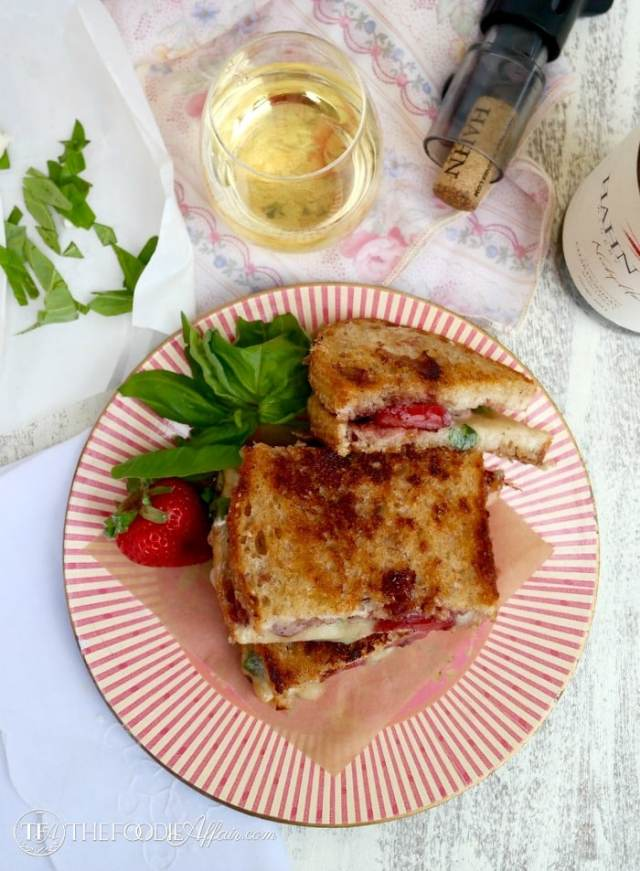 Strawberry Balsamic Brie Grilled Cheese - The Foodie Affair