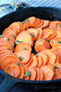 Tasty roasted sweet potatoes with sage, butter and honey make a delicious side dish to any Autumn meal. The Foodie Affair