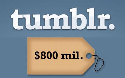 tumblr valuation