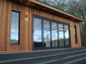 Bifold doors on a garden room-6