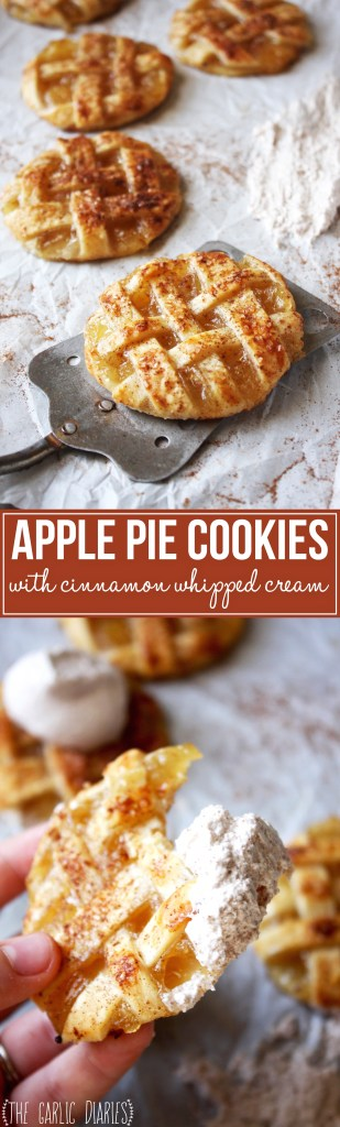 Apple Pie Cookies with Cinnamon Whipped Cream - the most delicious ...