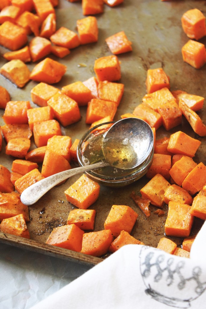 Brown Butter Sage Roasted Sweet Potatoes