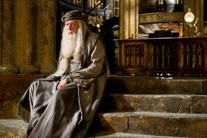 Michael Gambon as Dumbledore in Harry Potter and the Half-Blood Prince
