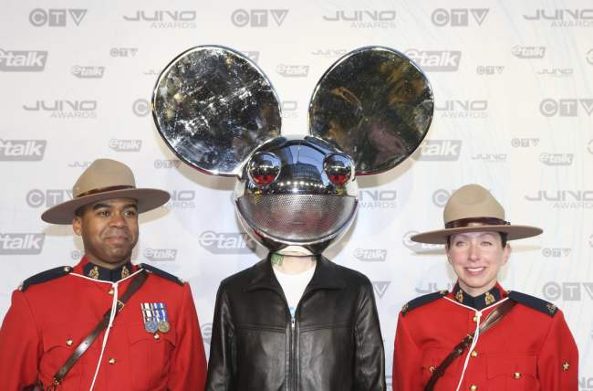Deadmau5 on the Juno Awards red carpet