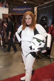 Liana K in a Universal Designs Stormtrooper costume