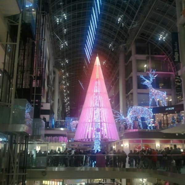 Photo: The absolutely hideous Christmas tree at the Eaton Centre. So ugly.