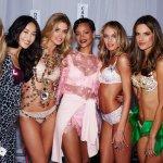 Rihanna backstage at the Victoria's Secret Fashion Show