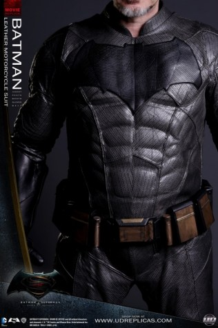 Batman Leather Motorcycle Suit by UD Replicas - Front