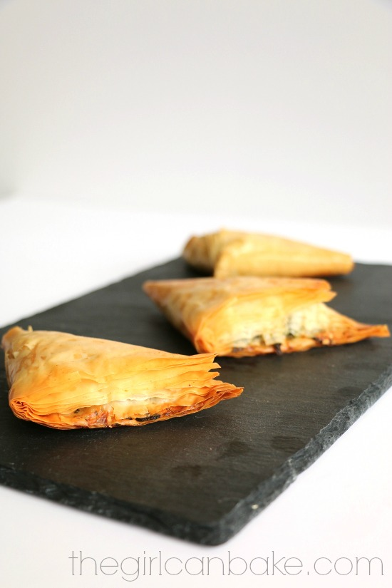 Spinach Artichoke Turnovers - The Girl Can Bake
