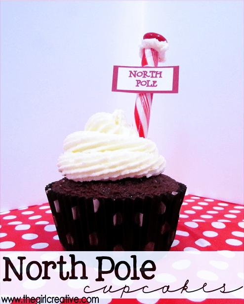 DIY North Pole Cupcakes