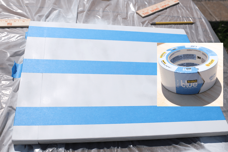 Scotch Blue Painters Tape for making stripes