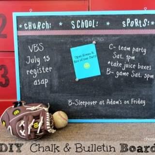 DIY Chalk Bulletin Board