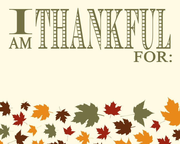 2013 Thankful Sign