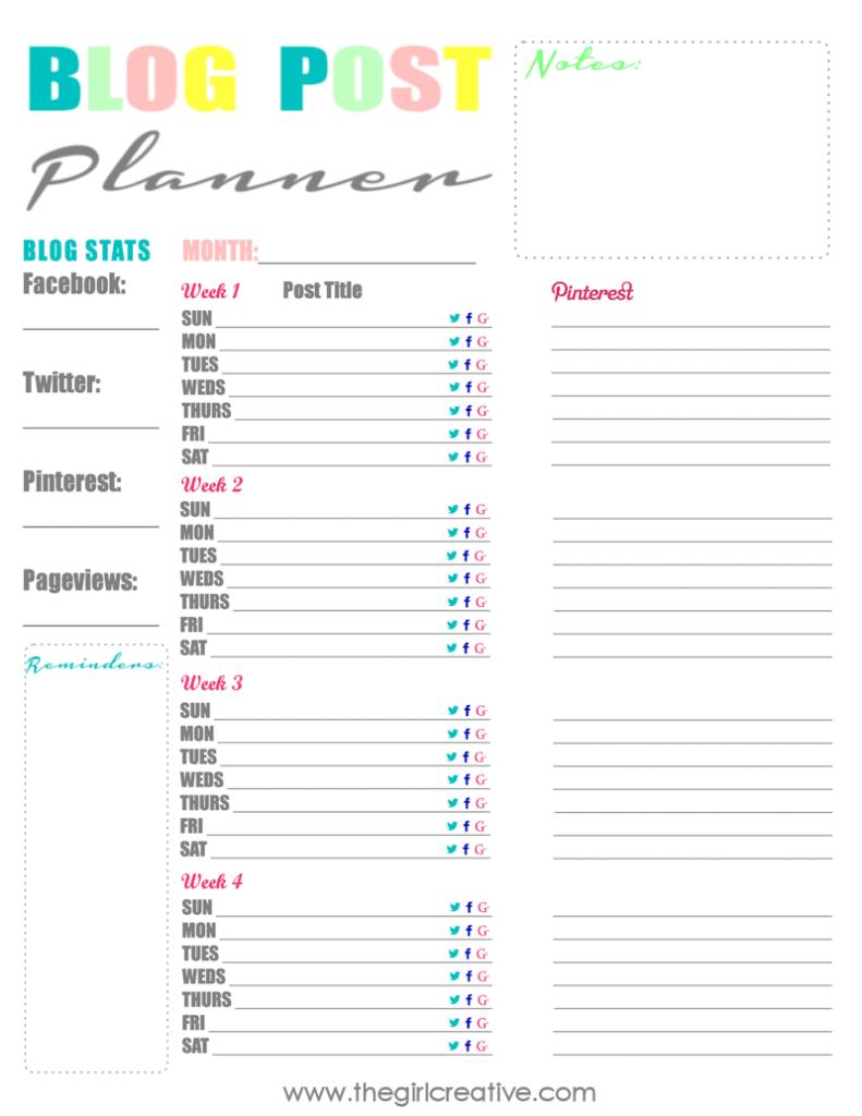Blog Planner for TGC