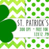 Printable St. Patrick's Day Scrapbook Paper
