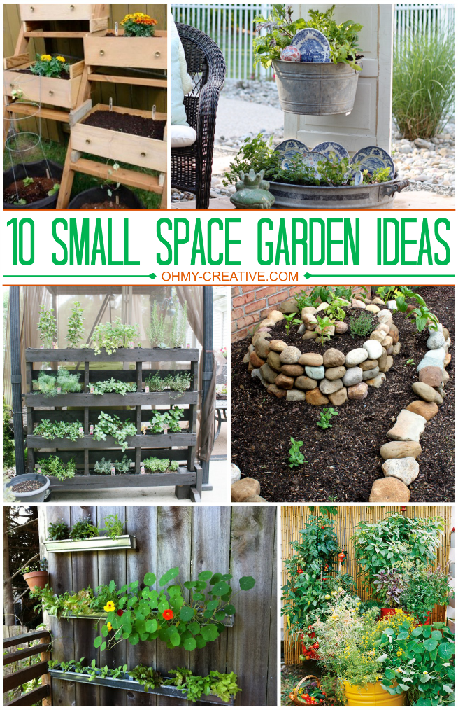 10 small space garden ideas and inspiration the girl for Gardening in small spaces