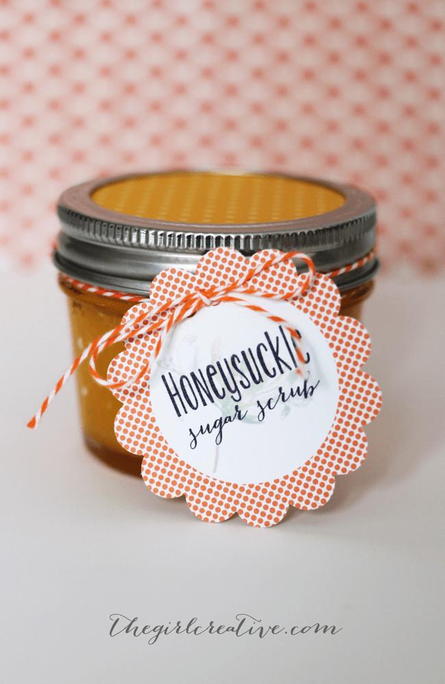 Homemade Honeysuckle Sugar Scrub Recipe | The Girl Creative