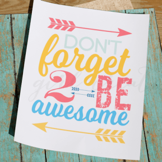 Don't forget to be awesome-feature