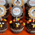 Turkey Cupcakes with Printable Toppers