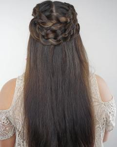 Boho crown braid by hairbyhaleyb during Blowouts and Braids forhellip