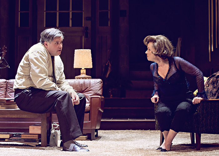 Conleth Hill and Imelda Staunton in Edward Albees
