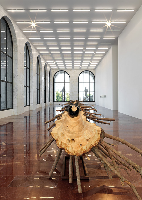Giuseppe Penone's 'Matrice' in the final room of his eponymous exhibition in Rome. Copyright Fendi
