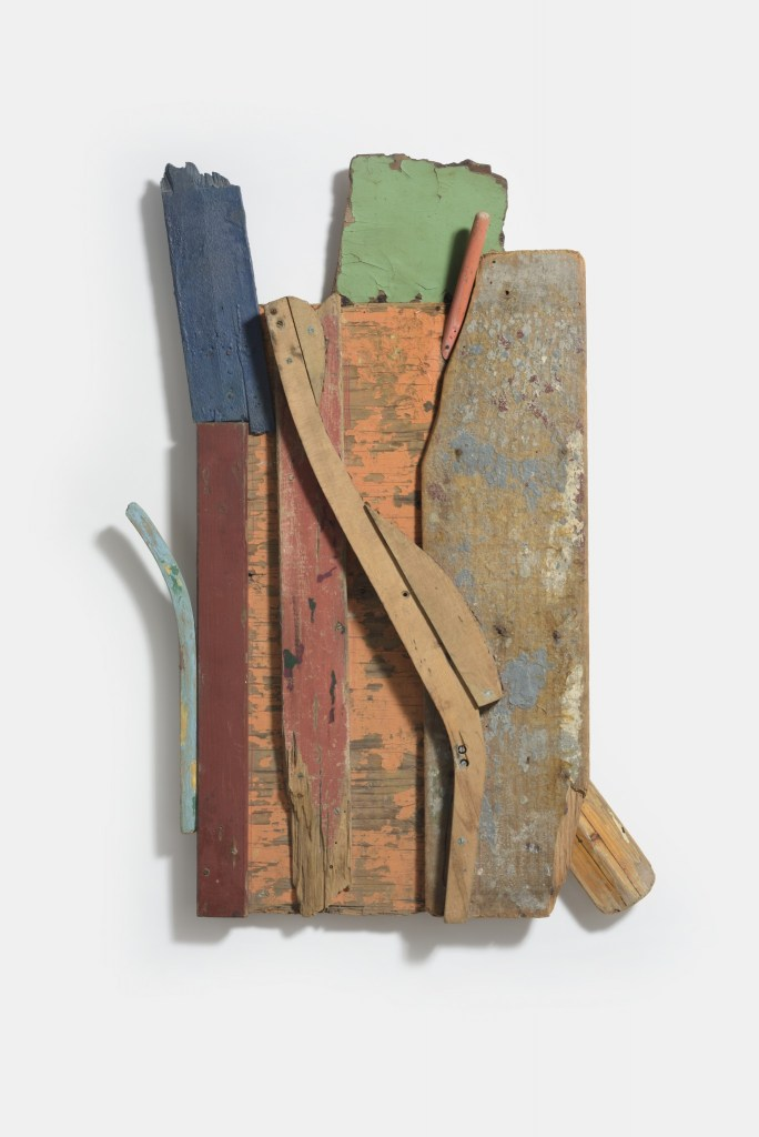 Margaret Mellis, Marsh, 1989-90, driftwood construction, 106 x 72cm, Copyright The Redfern Gallery, Courtesy Marlborough Fine Art