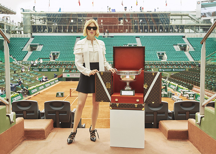 Léa Seydoux Louis Vuitton and Roland-Garros