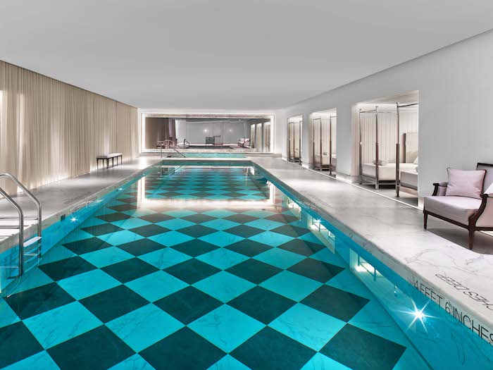 The stunning pool at Spa De La Mer
