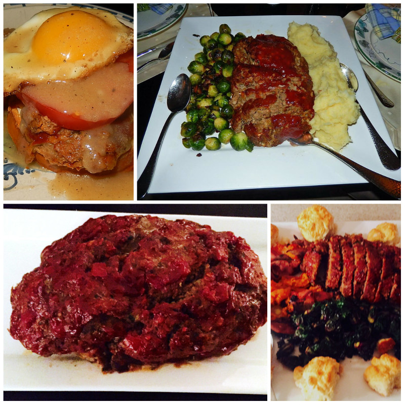 ... mashed potatoes and Brussels sprouts; Mom's Meatloaf with buttermilk