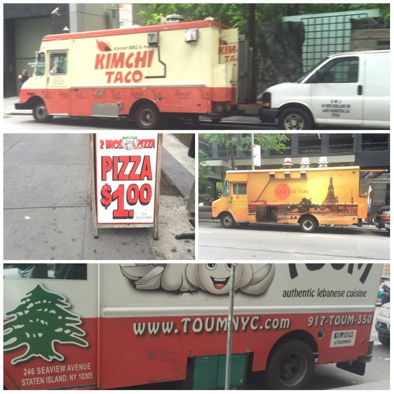 On West 46th Street the food trucks are an international lineup