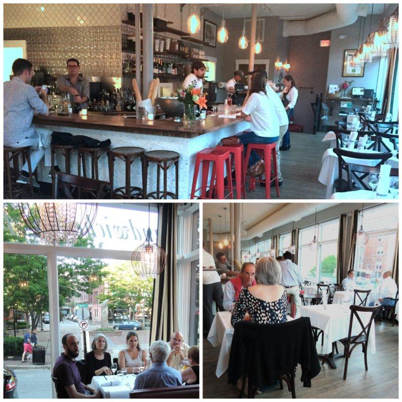 PJ's new look at the bar and at table