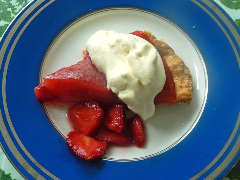 strawberry pie on a plate2