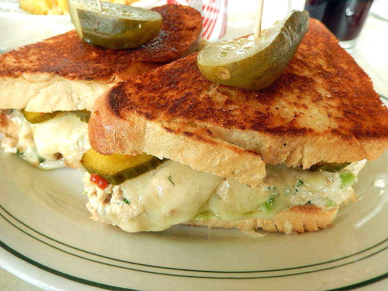 The perfect tuna melt  offered at the Palace Diner