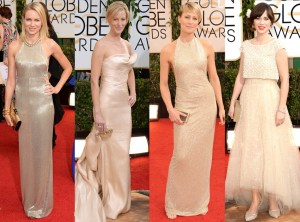 Red Carpet Trends from the 2014 Golden Globes Vestidos Dorados TheGoldenStyle