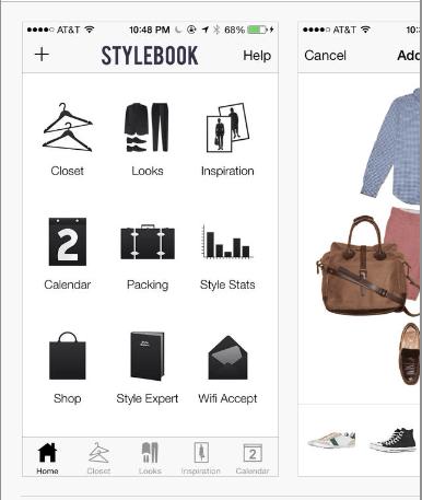 Apps para organizar mejor tu Armario TheGoldenstyle stylebook hombre