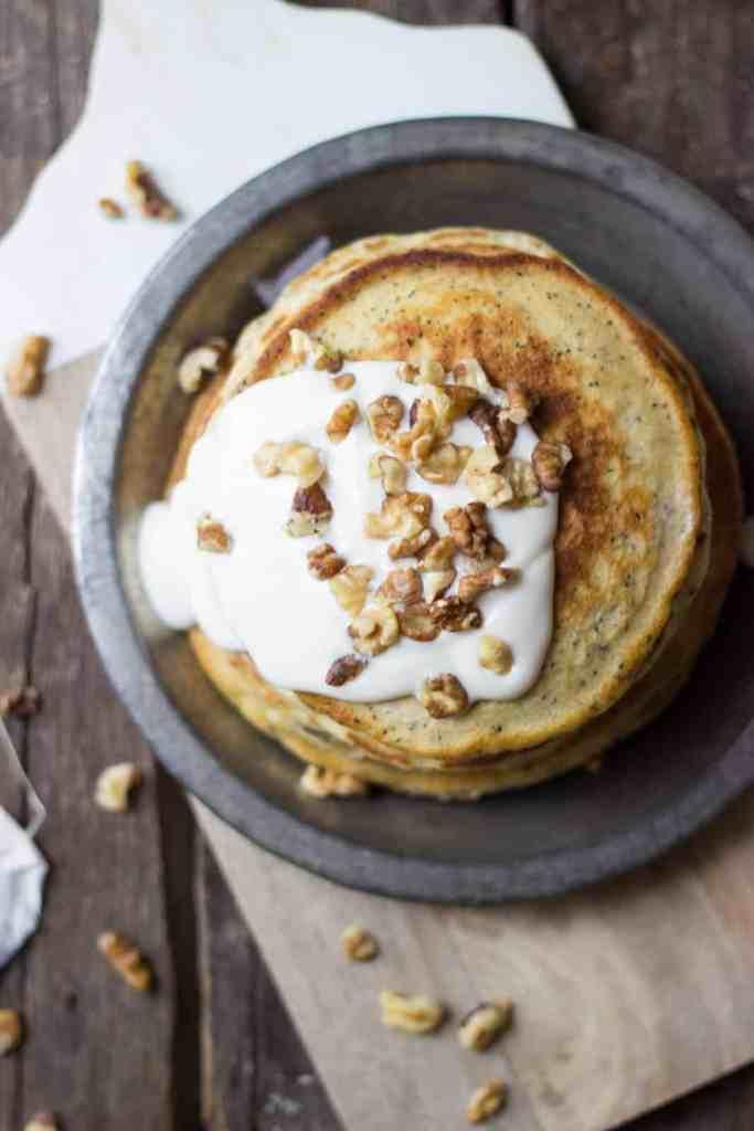 Chai Walnut Pancakes