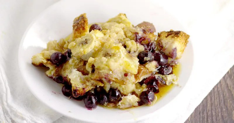 Banana Blueberry French Toast Bake recipe is a sweet and amazing ...