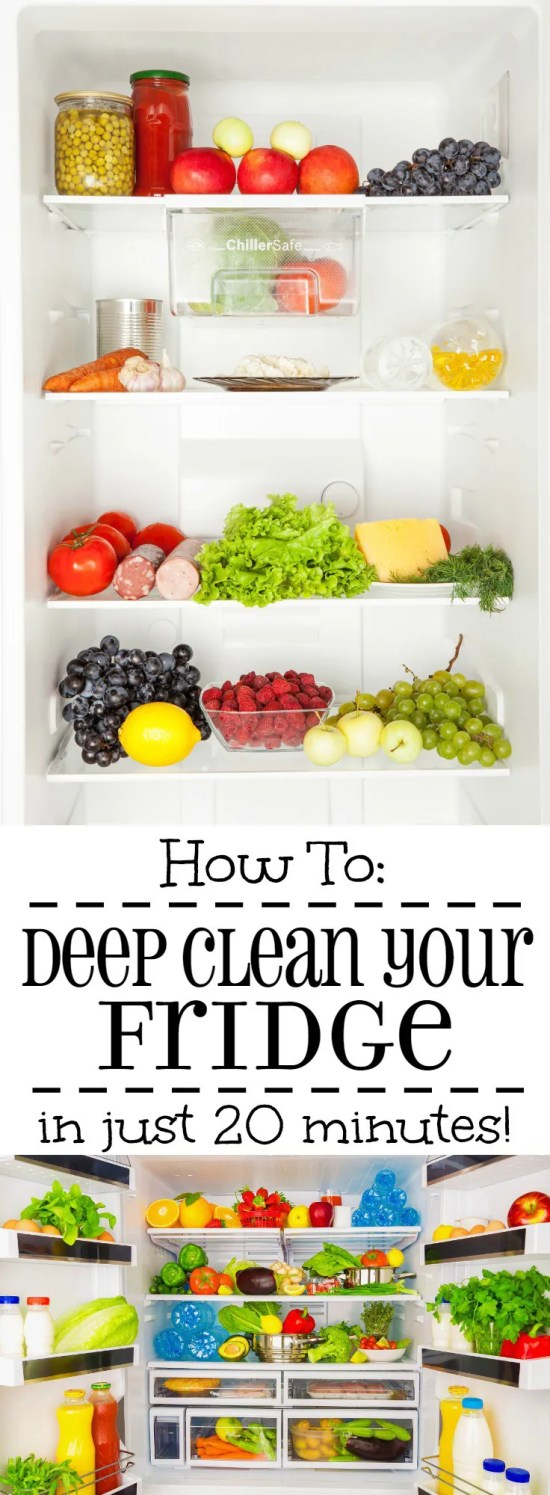 how to deep clean your fridge in 20 minutes the gracious wife. Black Bedroom Furniture Sets. Home Design Ideas